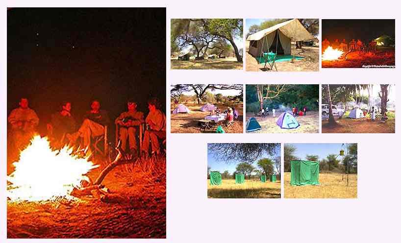 Camping hébergements en safari au Kenya