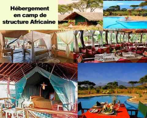Structures Africaines hébergements en safari au Kenya