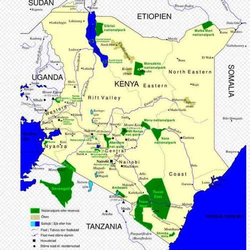 carte - Différences entre parcs et réserves du Kenya