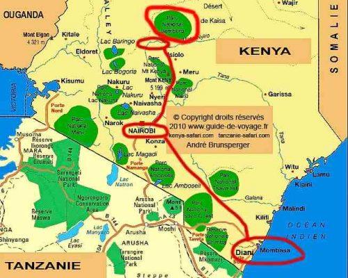 Carte du safari de luxe Tassia Lewa Downs